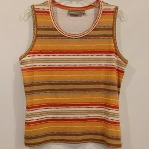 Croft & Barrow Multicolored Sleeveless Top